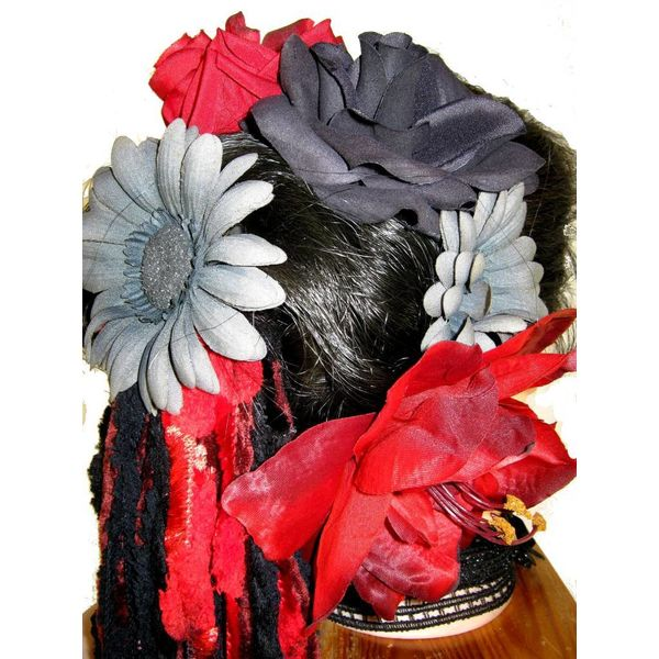Red Passion Nostalgia Hair Flower Set