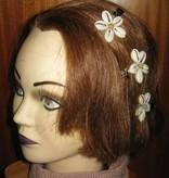 Cowry Hair Flowers, jade beads