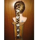 Cowry Hair Flowers, amethyst beads