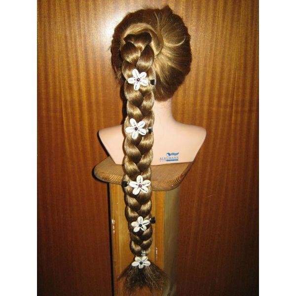 Cowry Hair Flowers, amethyst