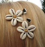 Cowry Hair Jewelry, golden ornament beads