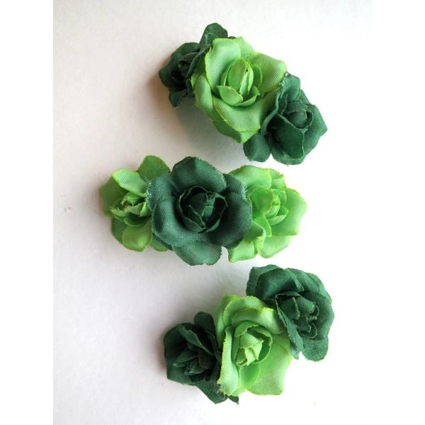 Green Rose Hair Flowers