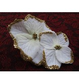 Bollywood Hair Flowers, Ivory-Gold