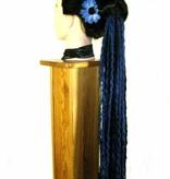 Blue Daisy Hair Flowers 2 x