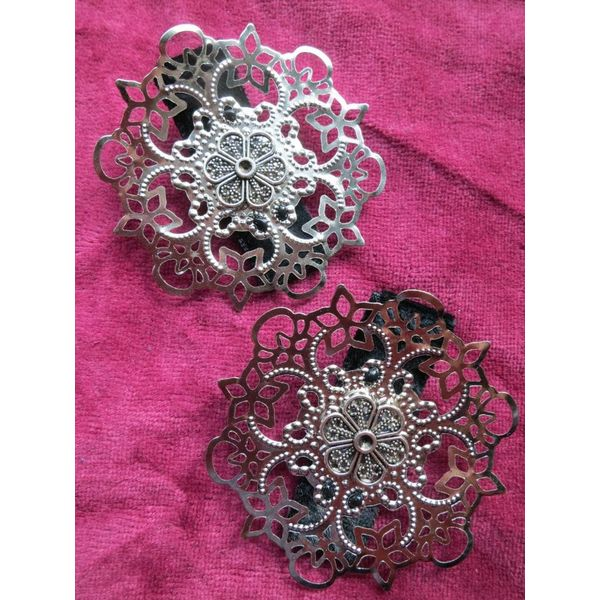 Hair Flower Gothic Silver Ornament