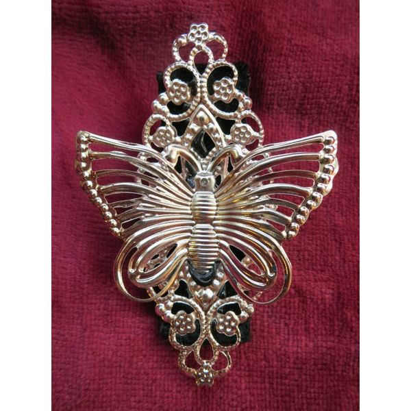 Butterfly Hair Jewelry & Shoe Clip, silver