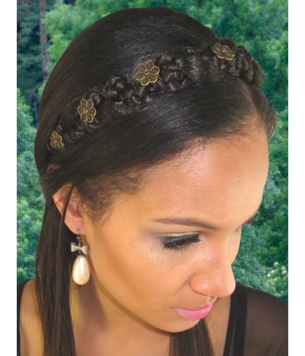 Braided Headband Snow White M color 3