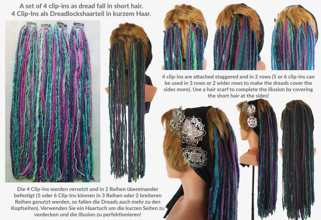 Special Dreadlocks For 2 Inches Short Hair In Many Colors Magic