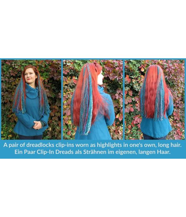 Clip-In Dreads, purple berry - limited edition
