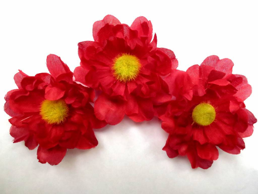 Hair flower shoe clip red daisy hippie boho hair jewelry magic red daisy hair flowers red daisy hair flowers izmirmasajfo