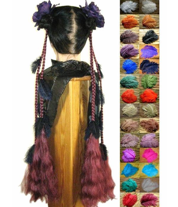Feather Goth Fantasy Hair Extensions Magic Tribal Hair Magic