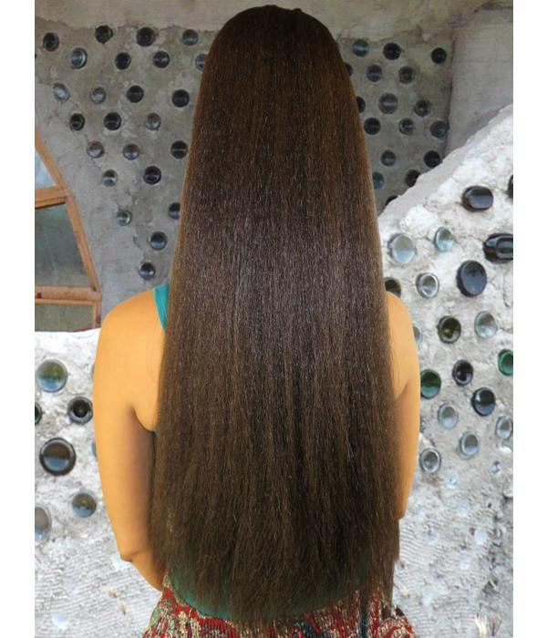 Afro Hair Fall Size M, crimped hair