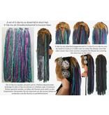 Henna red dream clip-in dreads