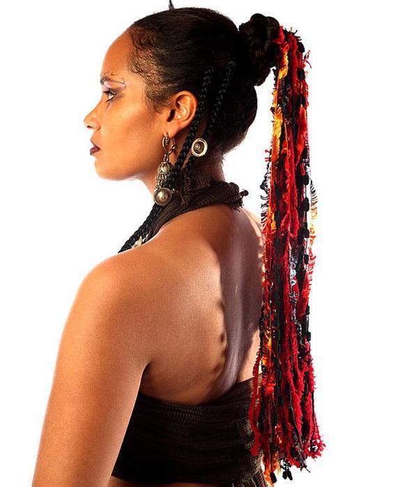 Fire Tribal Belly Dance Yarn Falls