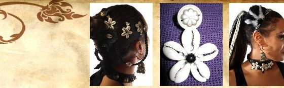 Cowry Flower Hair Clips