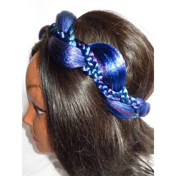 Mermaid Headband northern lights colors