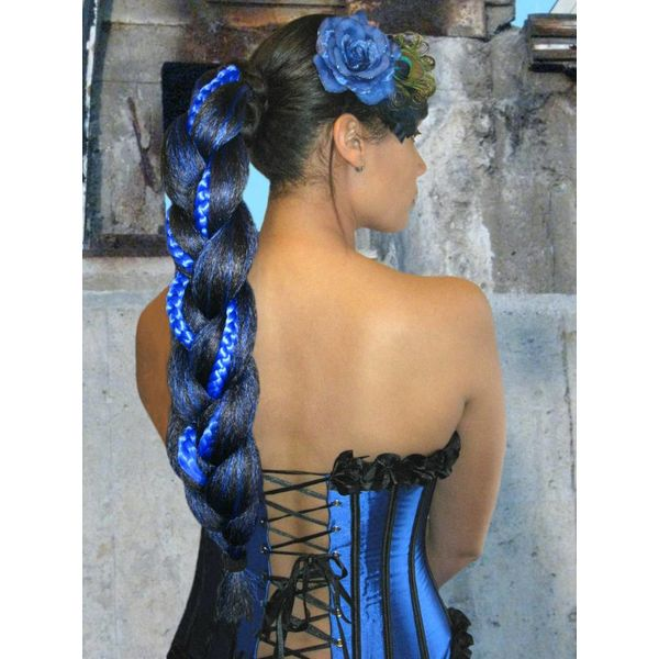 Supersize Fantasy Braid Special - black & blue