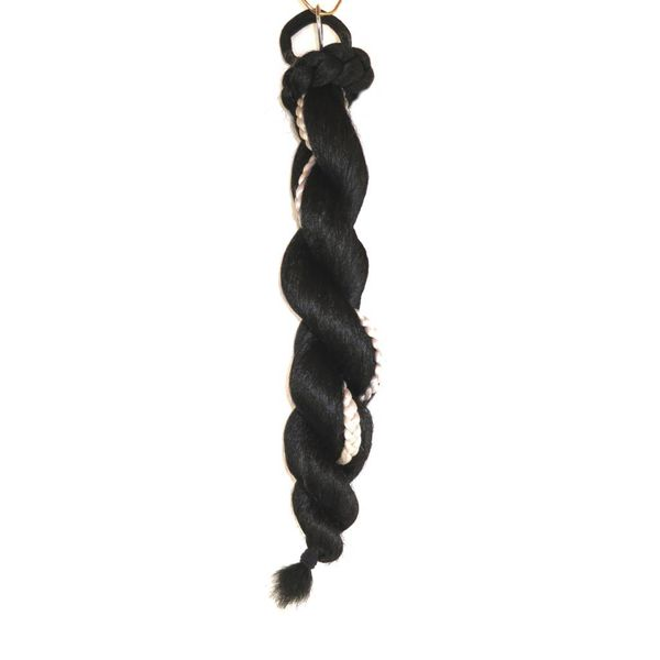 Supersize Fantasy Twist Braid - black & white