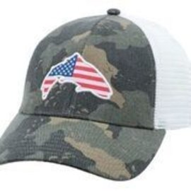 Simms Fishing USA Patch Trucker, Simms Camo