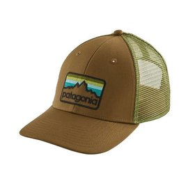 Patagonia Line Logo Badge LoPro Trucker Hat Coriander Brown