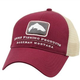 Simms Fishing Simms Small Fit Trout Trucker Cap Malbec
