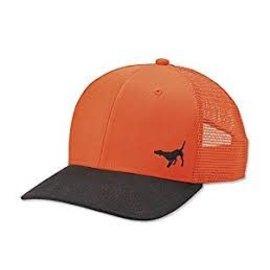 Orvis Orvis Wax Brim Orange Mesh Cap