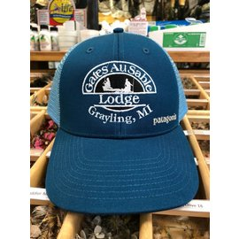 Patagonia Patagonia Gates Lodge Logo LoPro Trucker Hat Big Sur Blue
