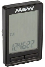 MSW MSW CC-200 Miniac 10-Function Cycling Computer, Wireless, Black