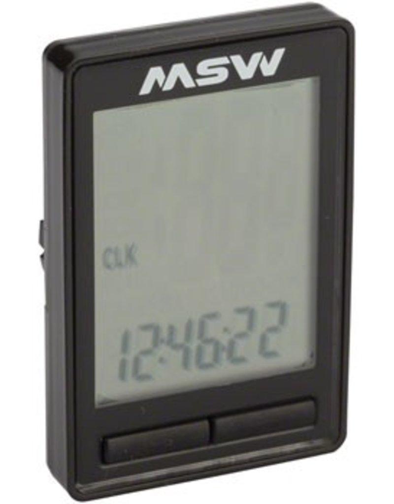 MSW MSW CC-200 Miniac 10-Function Cycling Computer, Wireless, Black
