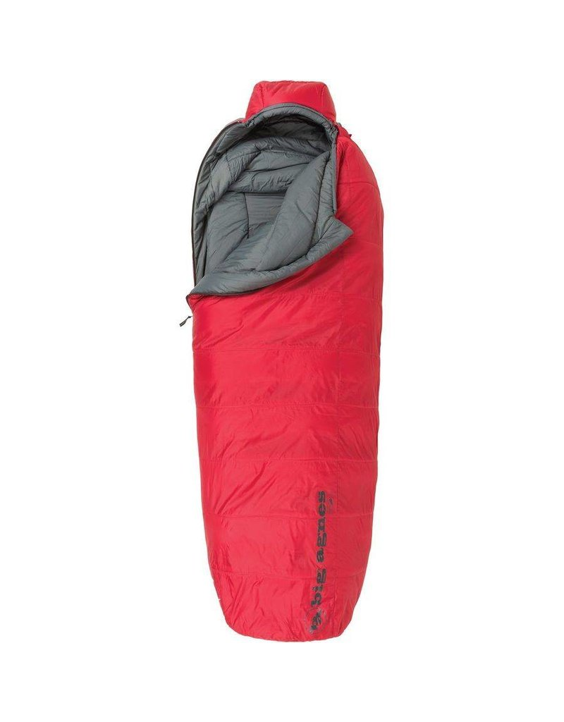 Big Agnes Inc. Big Agnes, Inc. Gunn Creek 30F Sleeping Bag: Synthetic, Red, Regular