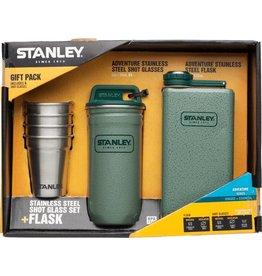 Stanley Stanley Adventure Steel Shots and 8oz SS Flask Set: Hammertone Green
