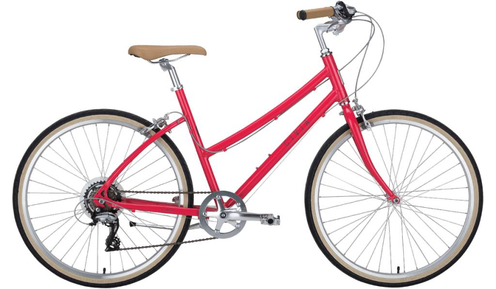 Civia Lowry Step Over 7-speed Bike: Gray/Red MD