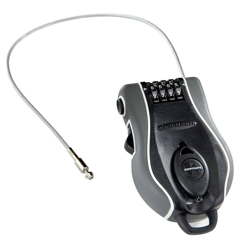 Kryptonite Kryptonite R-2 Retractable Combo Cable Lock: 3' (90cm)