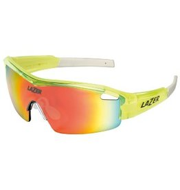 Lazer Lazer Solid State 1 (SS1-M) Sunglasses: Flash Yellow Frames with Three Lenses