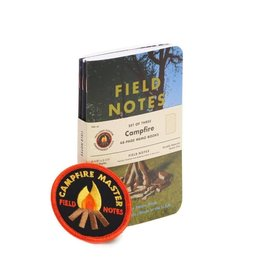 Field Notes Field Notes Campfire 3-pack with patch
