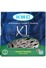 "KMC KMC X1 Chain: 3/32"" 96 Links Silver"