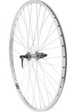 Quality Wheels Quality Wheels Value XL Rear Wheel 700c Shimano 130mm Hub / Velocity NoBS Rim, Raw, 36h