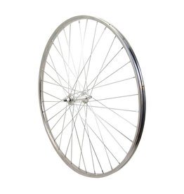 Sta-Tru Sta Tru Front Wheel 27 inch Silver Alloy Rim with Bolt-on Axle 36 Spokes Includes Axle Nuts