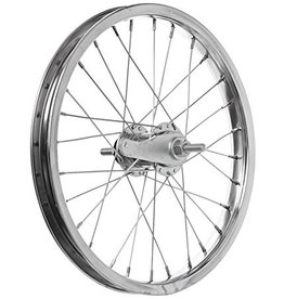 Sta-Tru Sta Tru Rear Wheel~ 16 inch Silver Coaster Brake Steel Rim with Solid Thread on Axle and 28 Spokes Includes Axle Nuts