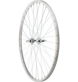 Sta-Tru Sta Tru Rear Wheel 26 1 3/8 inch Silver 6/7 Speed Bolt-on Hub, Alloy Rim, Solid Axle 36 Spoke Include Axle Nuts