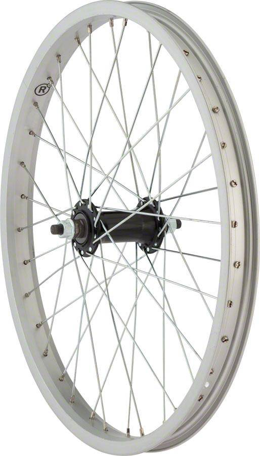 "R12 R12 Sound Front Wheel 20"" 3/8"" Axle 36h Silver Rim"