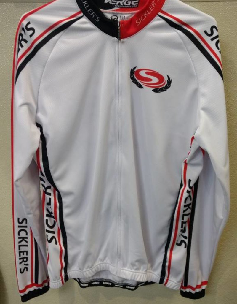 V-Gear Sickler's White Men's Jersey Sport Cut Large