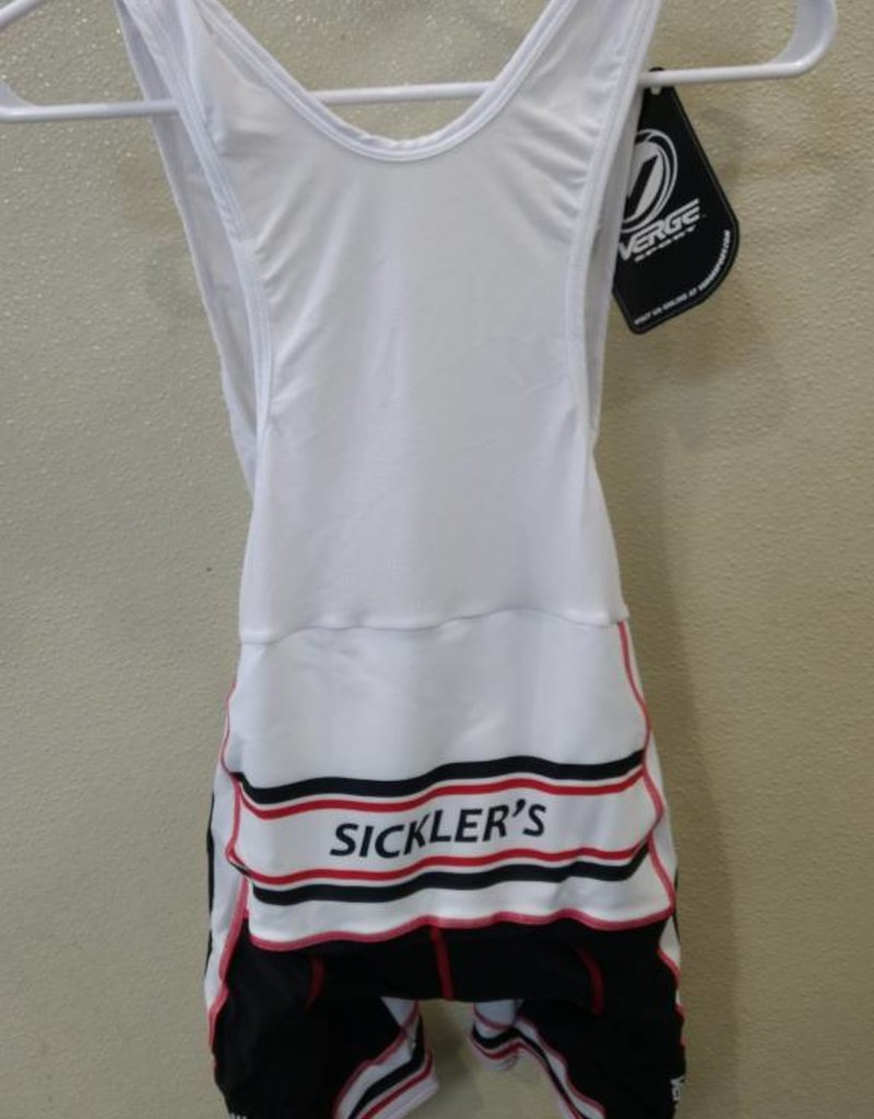 V-Gear Sickler's White Men's Bib Short size Large