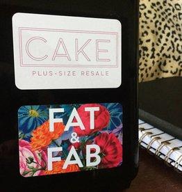 """""""Fat & Fab"""" Sticker"""