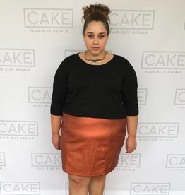 Asos Asos Curve Orange Shimmer Skirt - Roomy 22