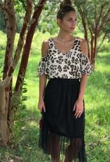 Black Tool Midi Skirt