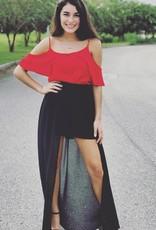 Black Sheer Maxi Shorts