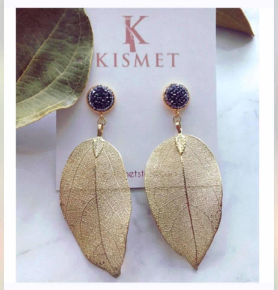 KISMET LEAF EARRINGS