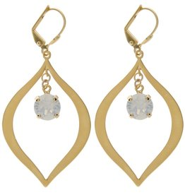 VICTORIA LYNN 8MM TEAR DROP EARRINGS