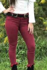 MID RISE HIGH LOW COLORED SKINNY JEANS
